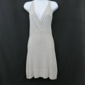 Lumiere Silver Gray Knit Dress Sparkly Club Party